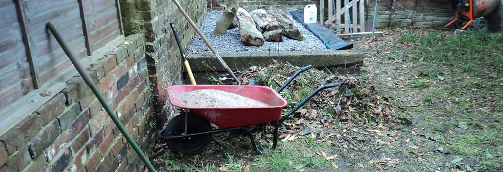 Neglected Garden your garden before wheelbarrow